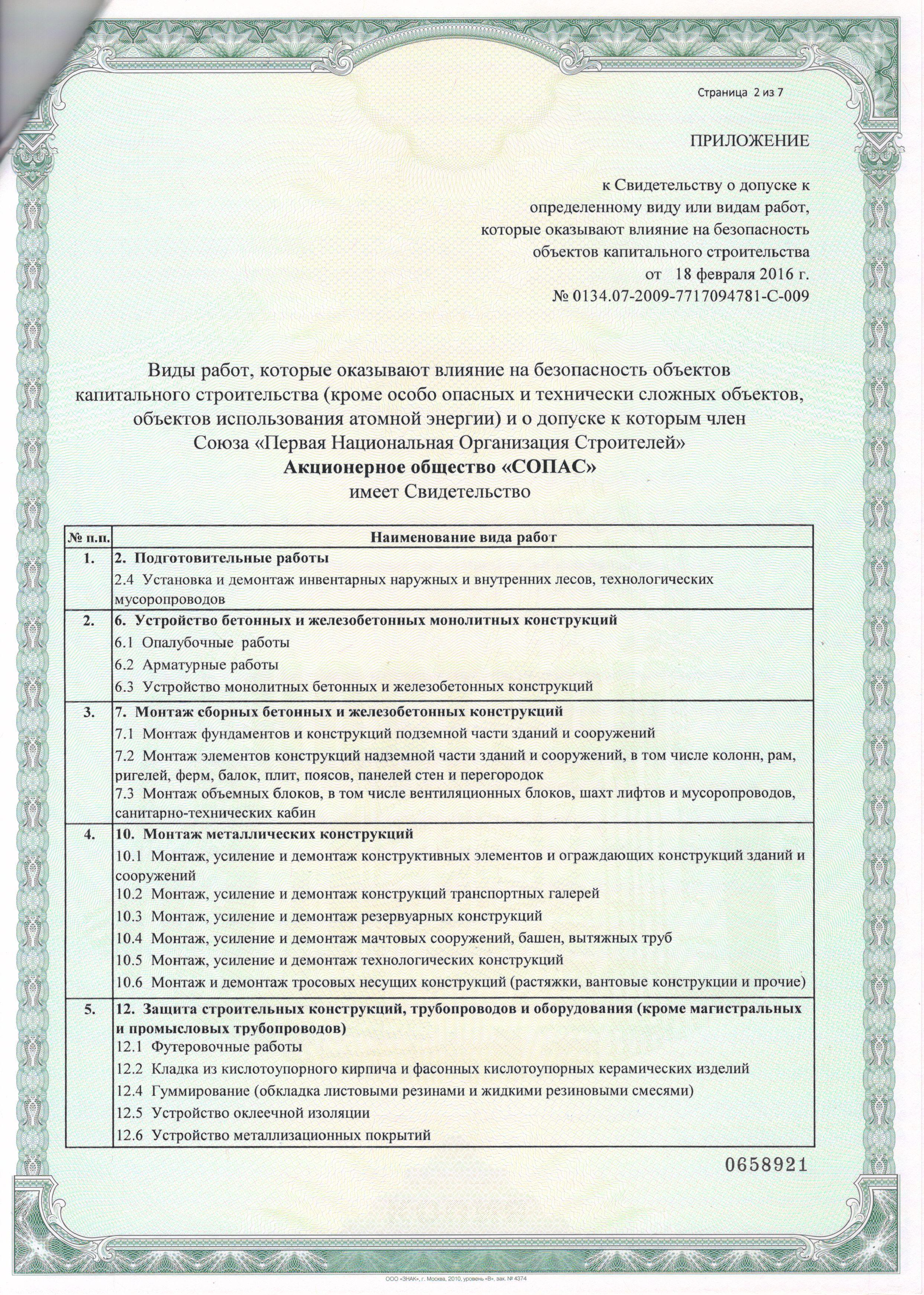 Св-во Союз ПНОС сопас ао 112