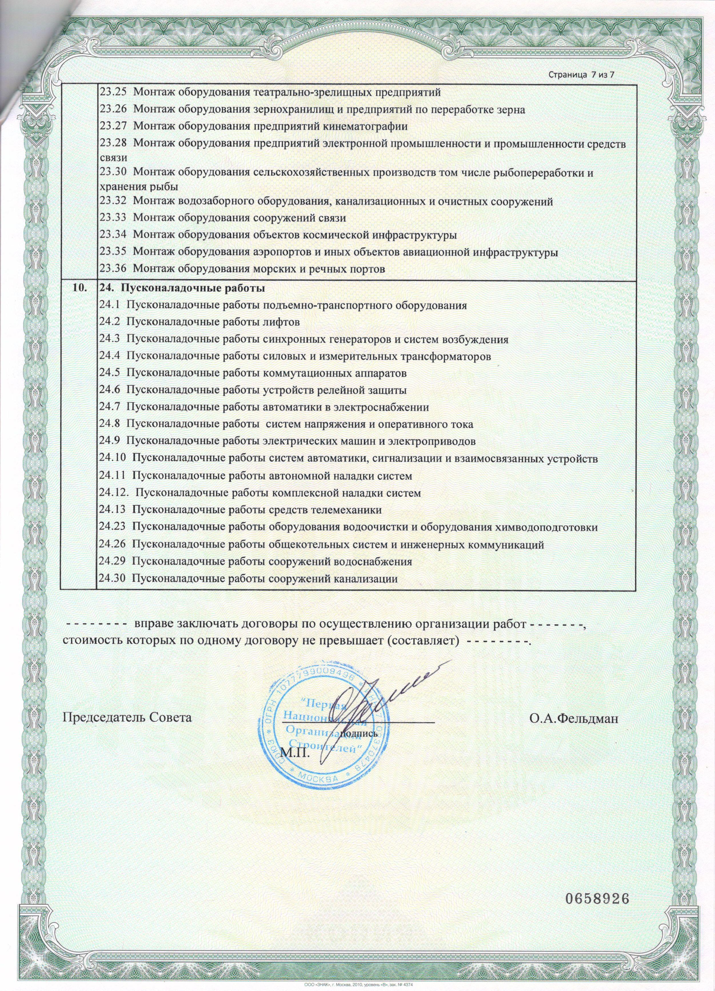 Св-во Союз ПНОС сопас ао 117